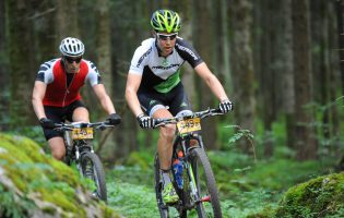 Transalp with my teammate